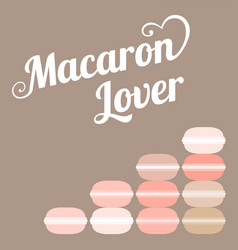 typography macaroon lover vector image vector image