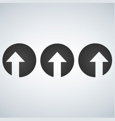 Up left and right arrows cut in circles vector