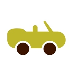 ecological sports car icon vector image
