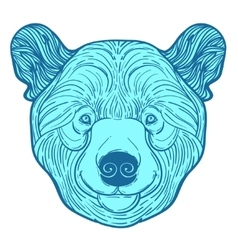 Animal teddy bear head print for adult anti stress vector