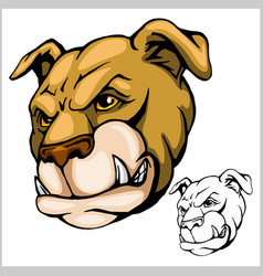 Bulldog mascot cartoon head vector