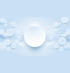 abstract hexagons lines technology background vector image