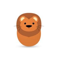 easter lion egg vector image