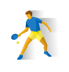 table tennis player sportsman with racket vector image