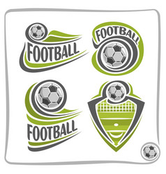 Logo football ball vector