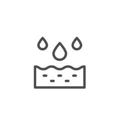 Watering line icon vector