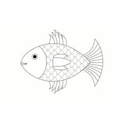 drawing of fish vector image