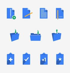 Folders and documents collection vector