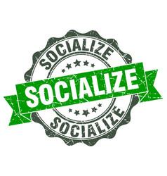 Socialize stamp sign seal vector