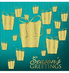 Elegant hanging ornament card in format vector