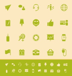 Technology gadget screen color icons on light vector