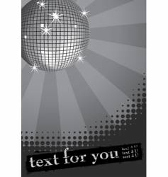 Disco ball banner vector