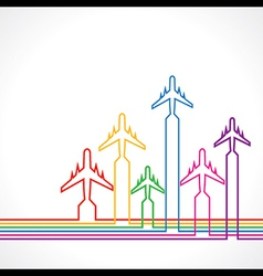Abstract background with airplane vector