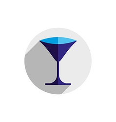 Horeca graphic element sophisticated martini glass vector