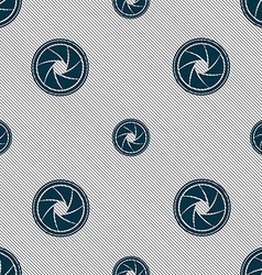 Diaphragm icon aperture sign seamless pattern with vector