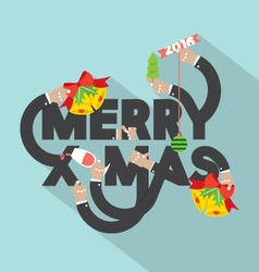 Merry x-mas typography design vector
