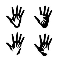 Set of helping hands vector