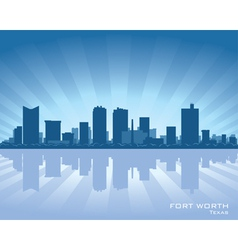 Fort worth texas skyline vector