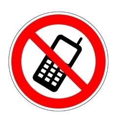 No phone sign 804 vector