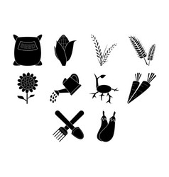 agriculture icon set vector image vector image