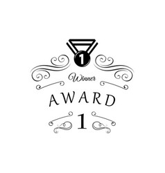 award medal badge icon winner isolated on white vector image vector image
