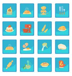 Bakery icon blue app vector