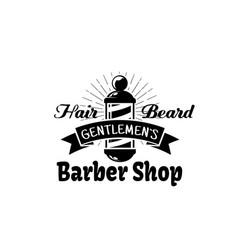 barbershop icon for gentleman beard salon vector image vector image