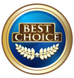 Best Choice Blue Label vector image