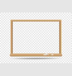 blackboard template transparent vector image vector image
