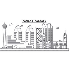 canada calgary architecture line skyline vector image vector image
