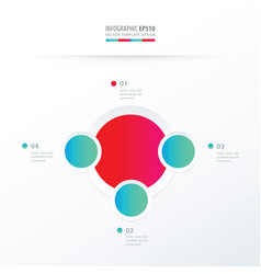 Circle overlap design blue and pink color vector