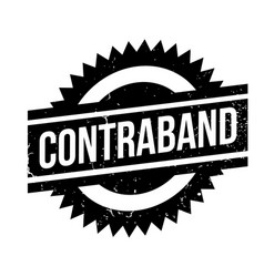 Contraband rubber stamp vector