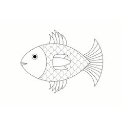 drawing of fish vector image
