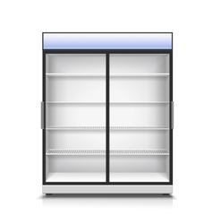 Empty vertical refrigerator for with two vector