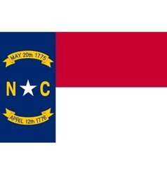 Flag of north carolina correct size color vector