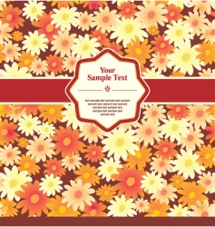 flower background with frame vector image vector image