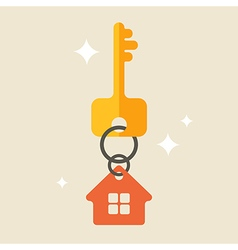 House keys with Red House Key chain vector image vector image