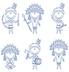 Indians vector image