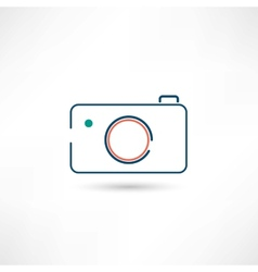 little digital camera icon vector image