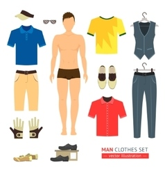Man or Boy Clothes Set vector image