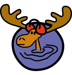 Moose ear muffs vector image