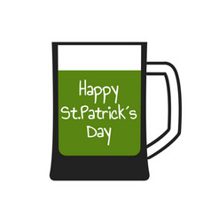 Mug with green beer vector
