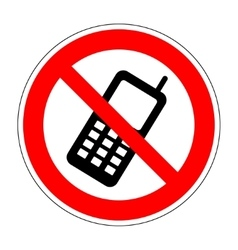 No phone sign 804 vector