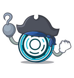 Pirate aion coin character cartoon vector