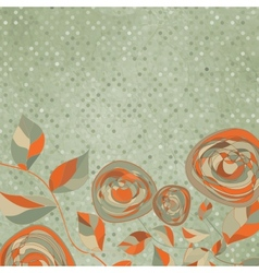Romantic floral with vintage roses eps 8 vector