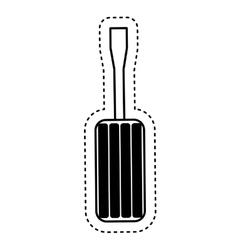 screwdriver tool repair service icon vector image vector image