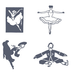 Set of dancing vector