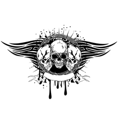 three skulls tribal vector image vector image