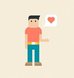 Trendy Flat Character vector image