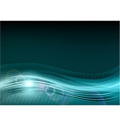 wave abstract blue vector image vector image